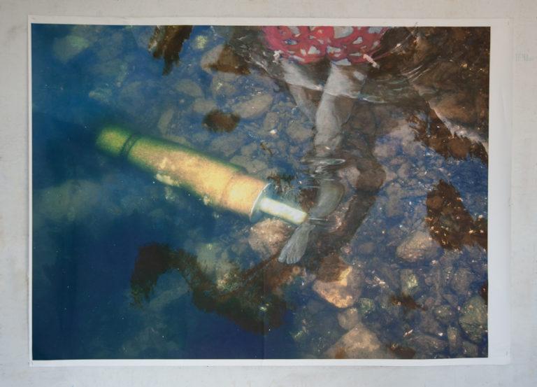Bagnante - Oil on digital print on canvas (160x120 cm)