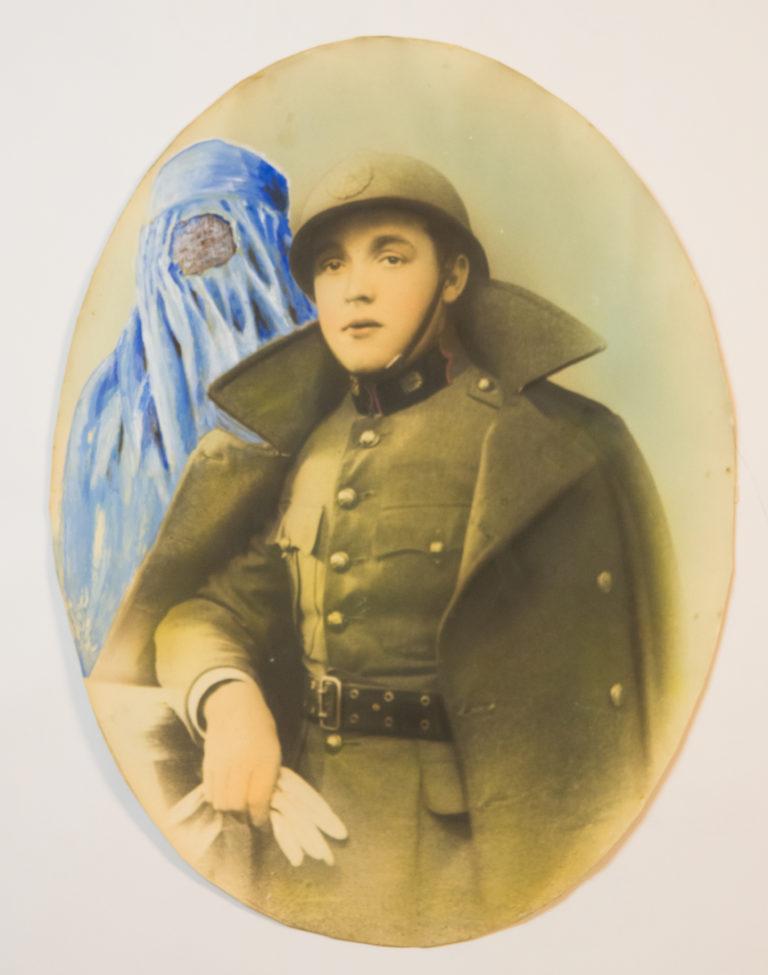 El Bepi l'ha sposa' na foresta - Tempera on photo print (39,5x29 cm)